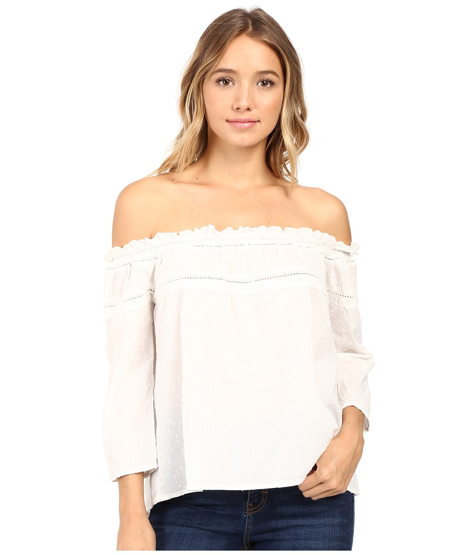 Roxy - Beach Fossil Cold Shoulder Top (Pristine) Women's Blouse