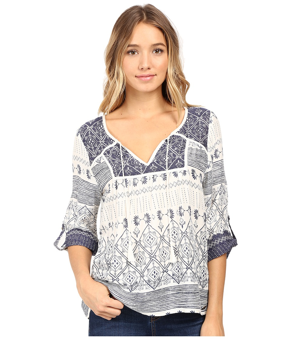 Roxy - Lucky Blue Top (Deep Ocean/Pristine) Women's Blouse