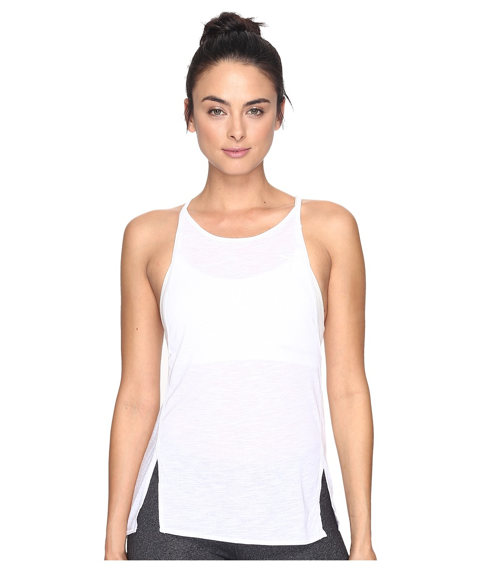 PUMA - Dancer Drapey Tank Top (Puma White Heather) Women's Sleeveless