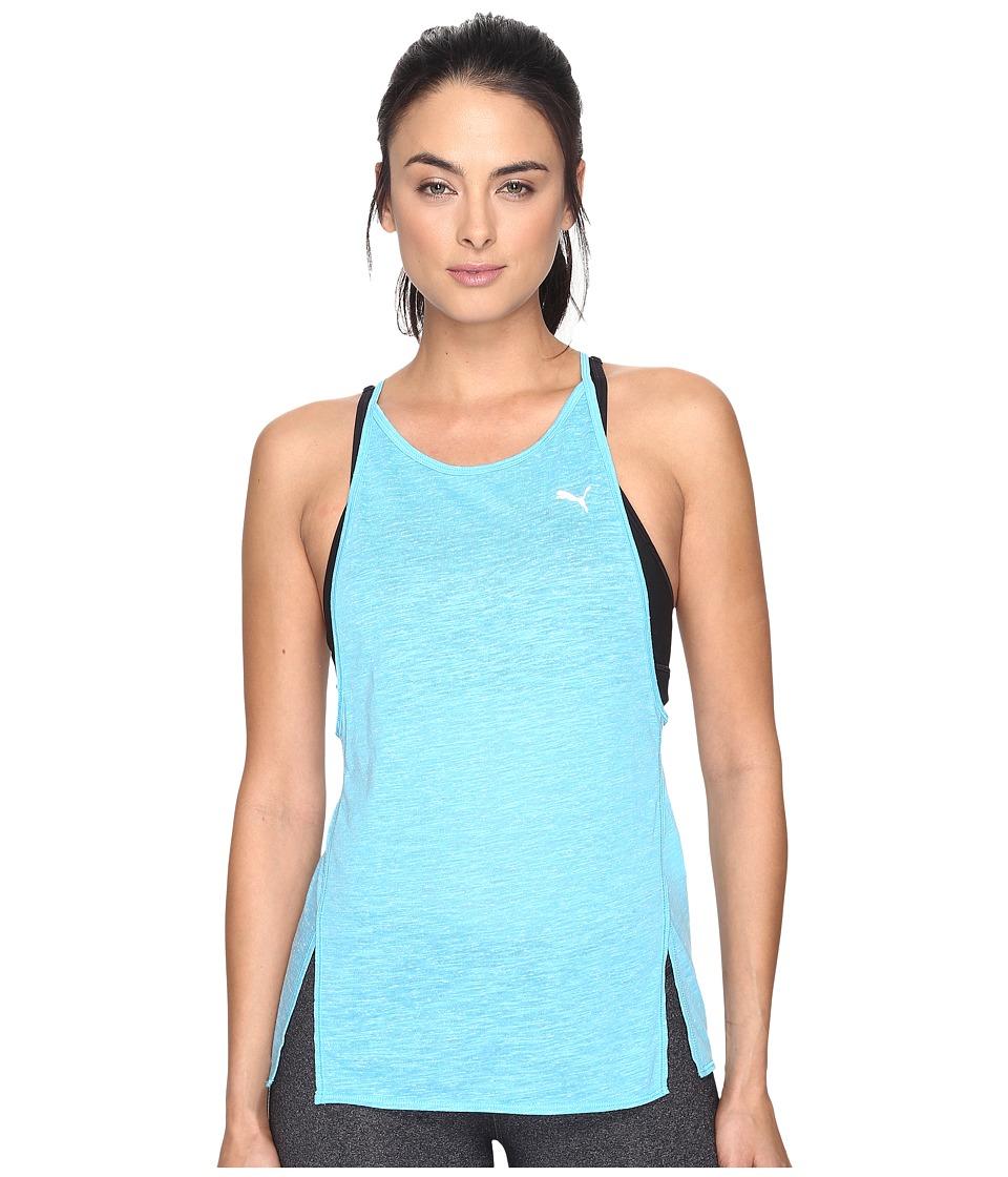 PUMA - Dancer Drapey Tank Top (Blue Atoll Heather) Women's Sleeveless