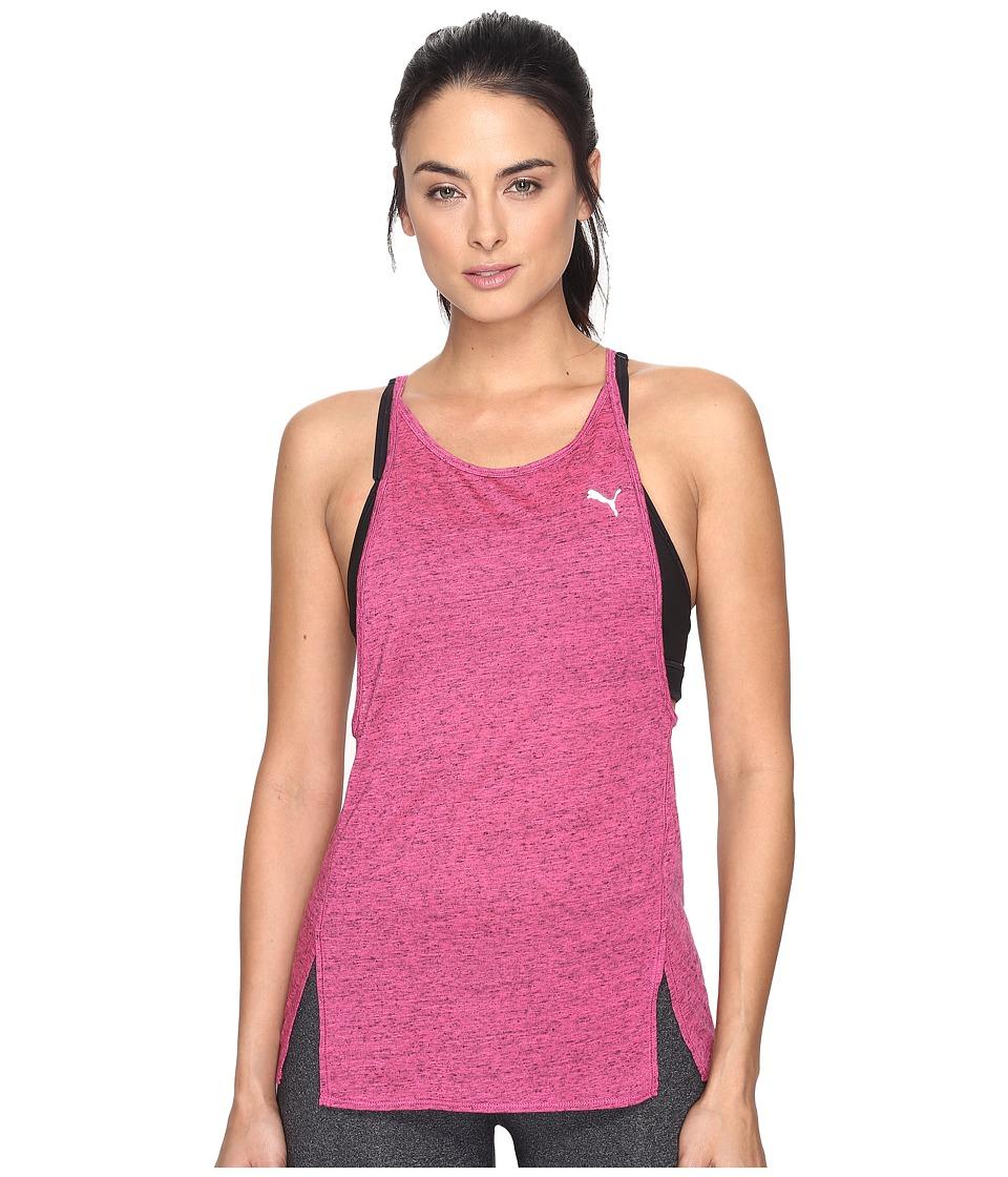 PUMA - Dancer Drapey Tank Top (Knockout Pink Heather) Women's Sleeveless