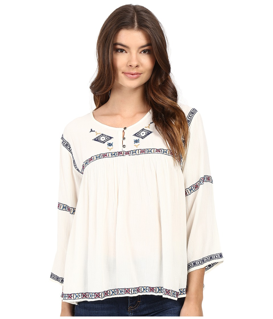 Roxy - June Sky Top (Pristine) Women's Blouse