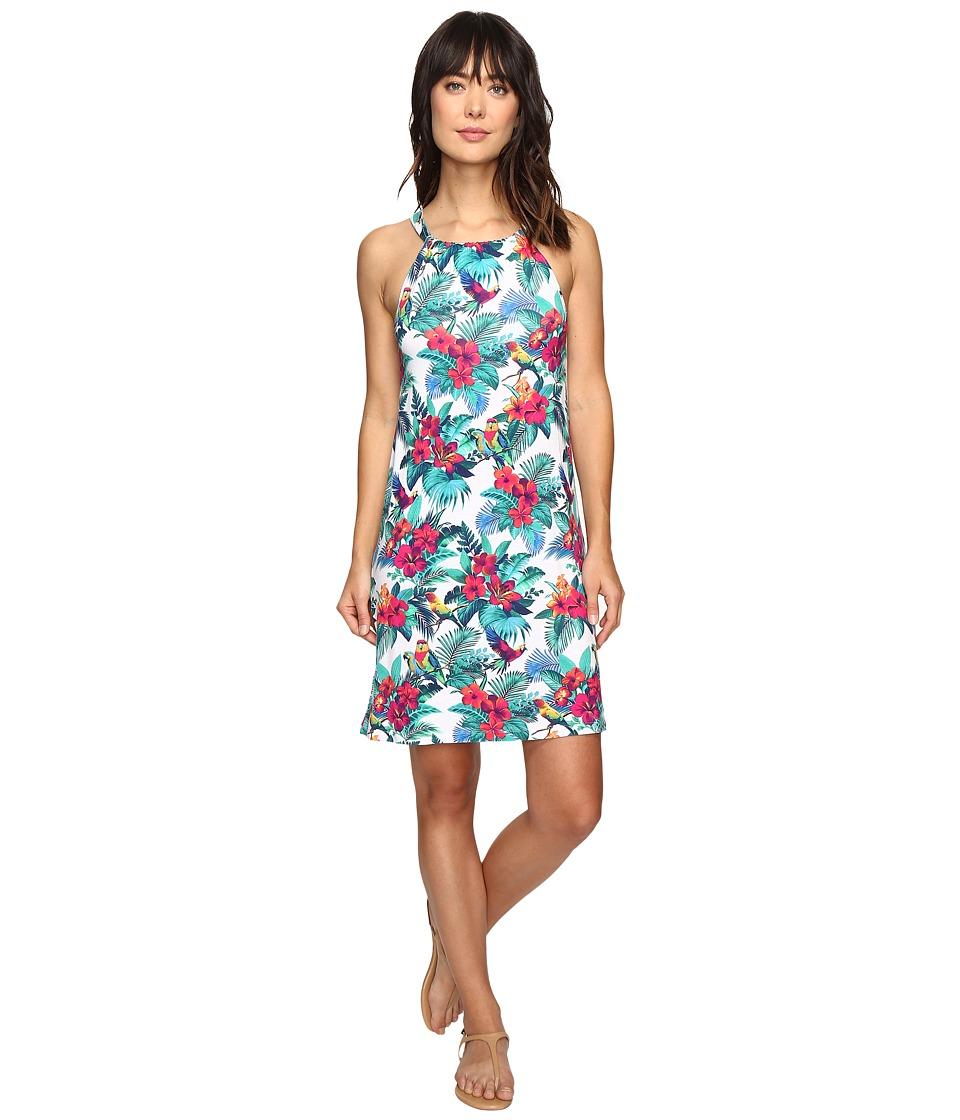 Tommy Bahama Jungle Flora Short Dress (Bright White) Women