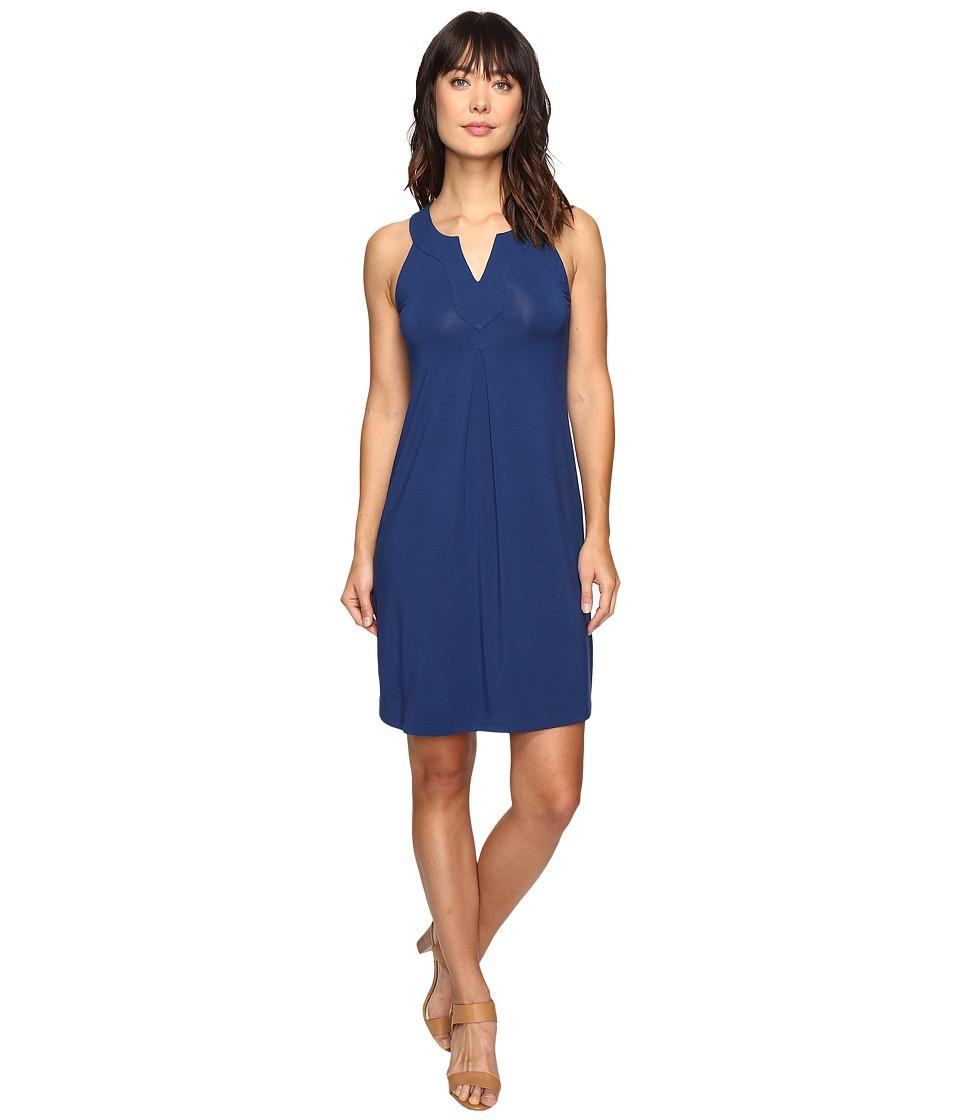 Tommy Bahama Tambour Notch Neck Short Dress (Bering Blue) Women