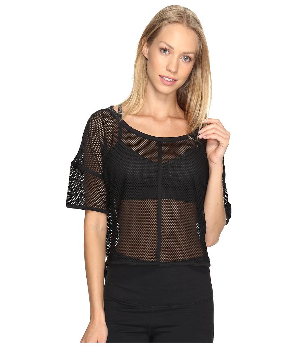 PUMA - Explosive Mesh Top (PUMA Black) Women's Short Sleeve Pullover
