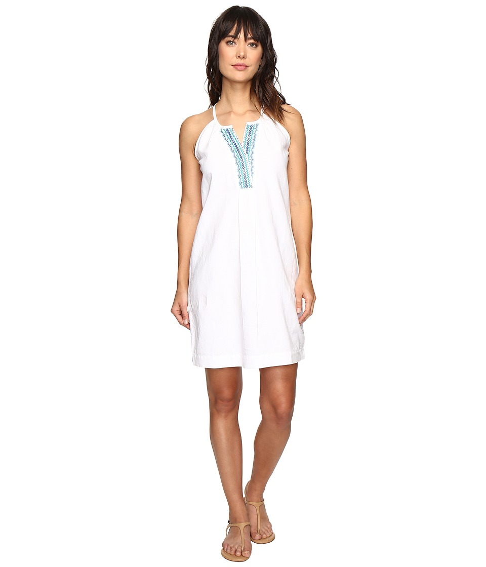 Tommy Bahama Embellished Linen Short Dresss (Bright White) Women