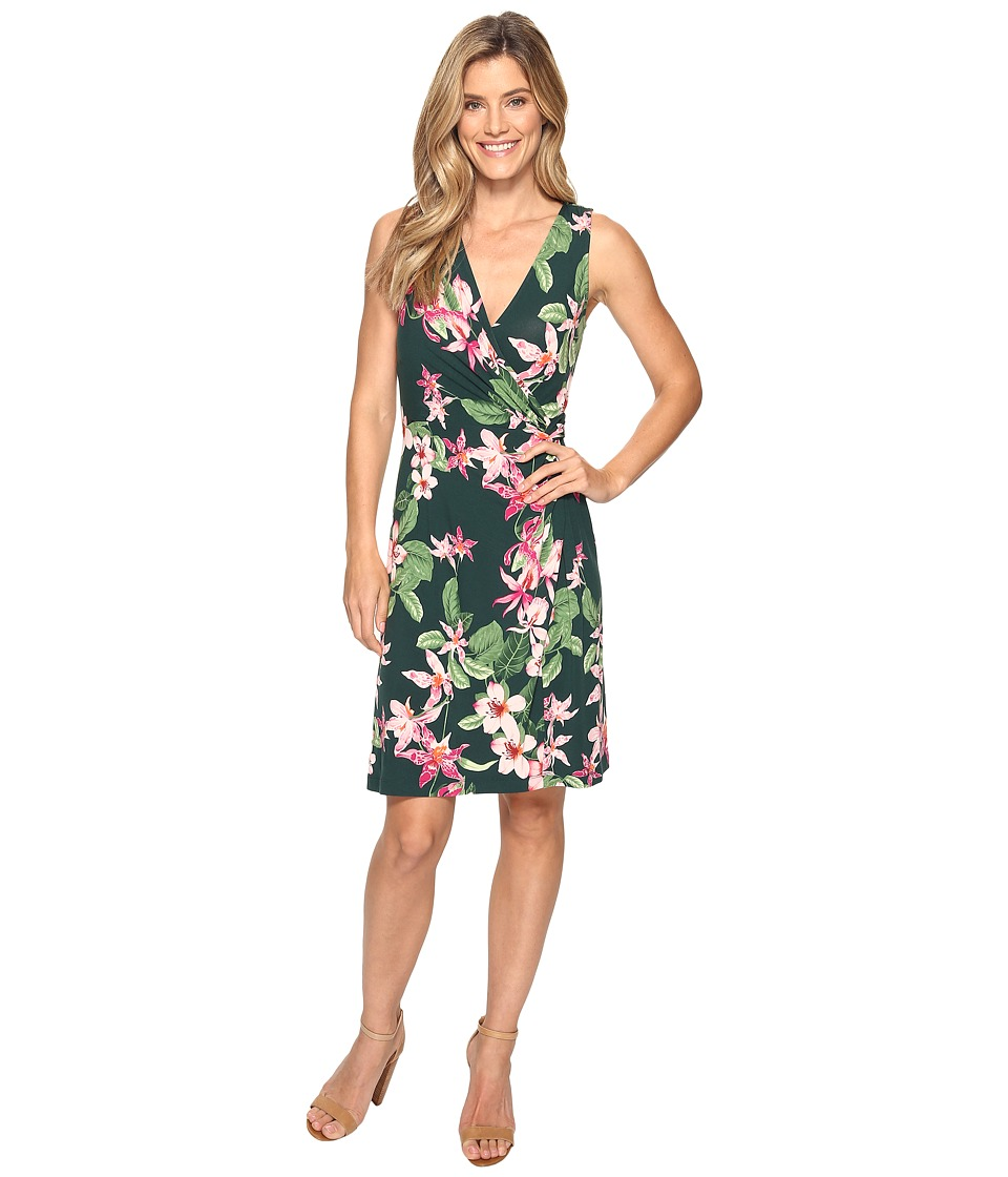 Tommy Bahama - Le Tigre Orchid Short Dress (Darkest Spruce) Women's Dress