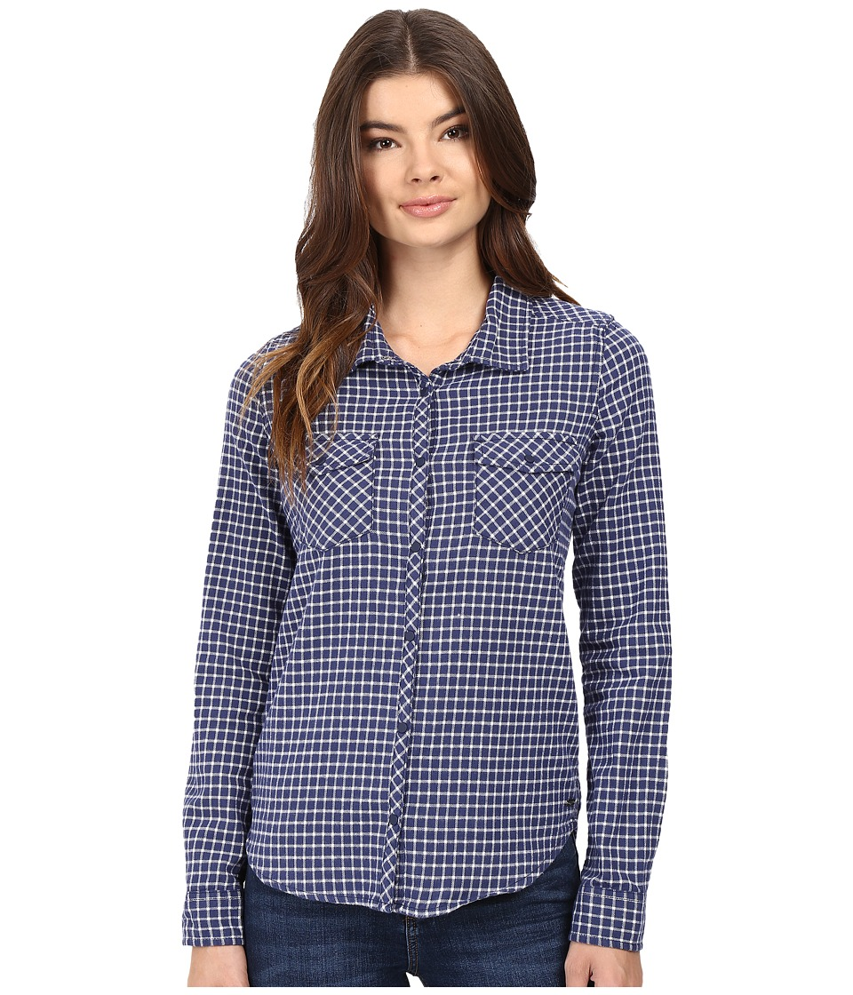 Roxy - Squary Cool Long Sleeve Flannel Shirt (Vichy Love Combo Blue Print) Women's Clothing