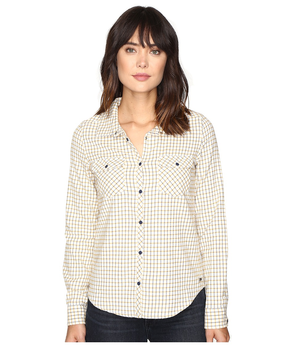 Roxy - Squary Cool Long Sleeve Flannel Shirt (Vichy Love Combo Pristine) Women's Clothing