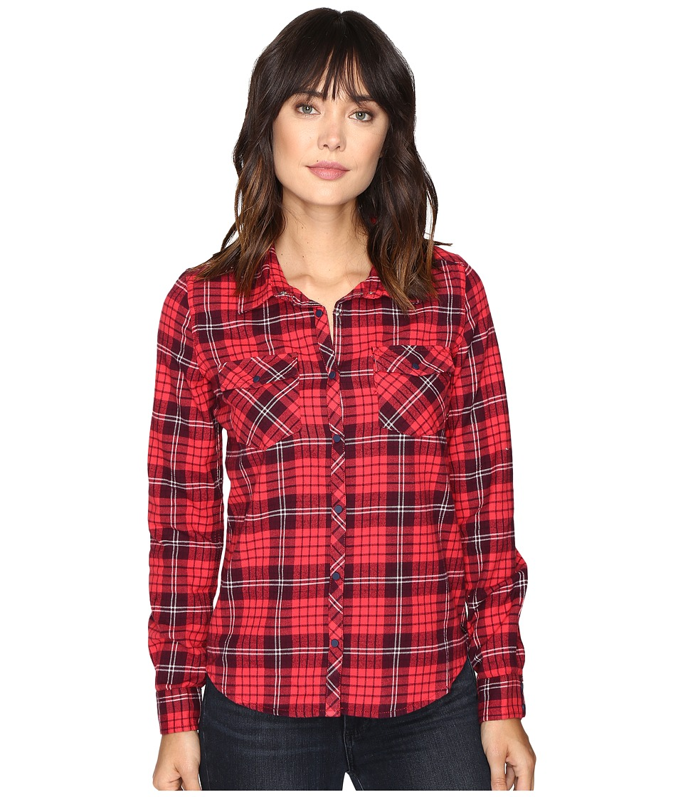 Roxy - Squary Cool Long Sleeve Flannel Shirt (Scotty Combo Pristine) Women's Clothing