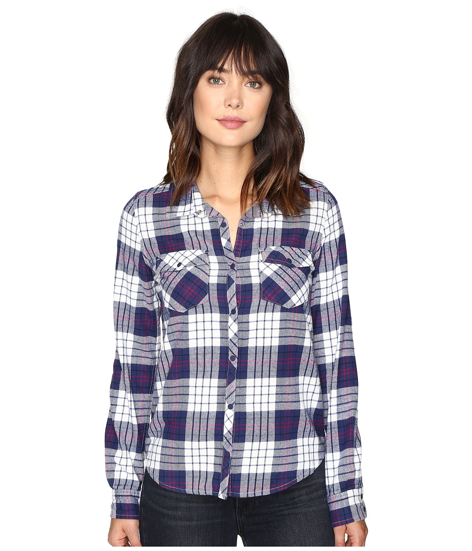 Roxy - Squary Cool Long Sleeve Flannel Shirt (Scotty Combo Potent Purple) Women's Clothing