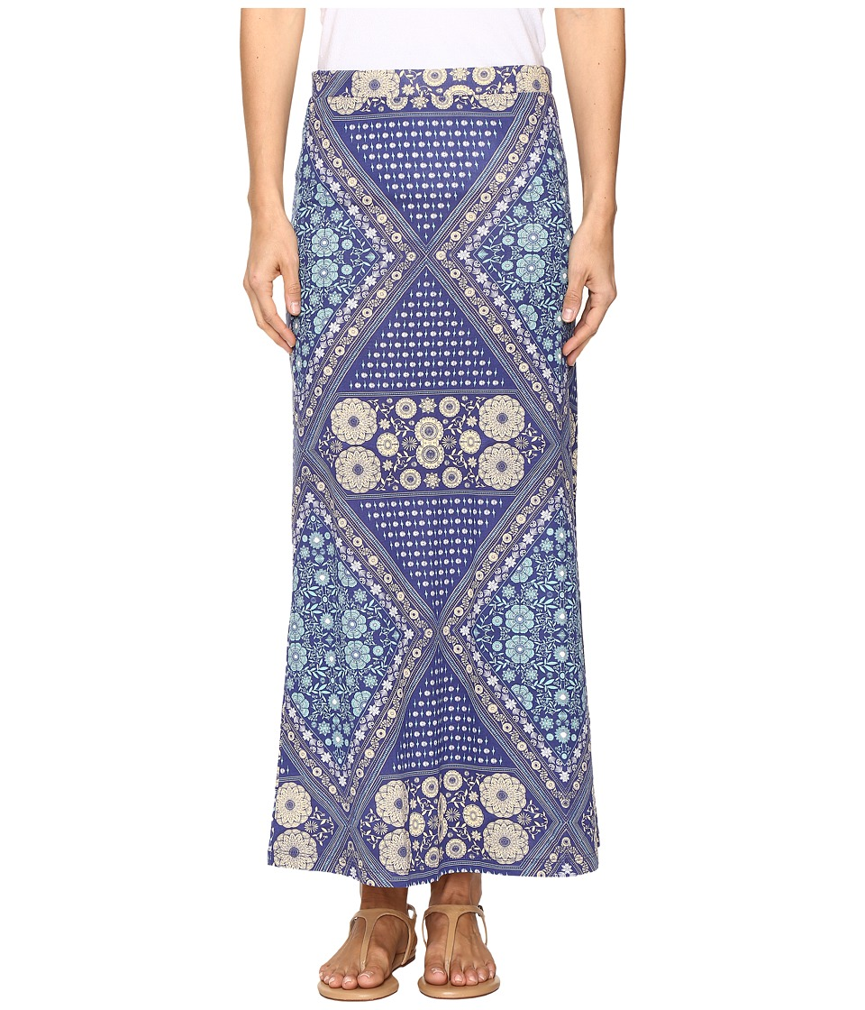 Roxy Forever Found Printed Maxi Skirt (Bohemian Behavior/Blue Print) Women