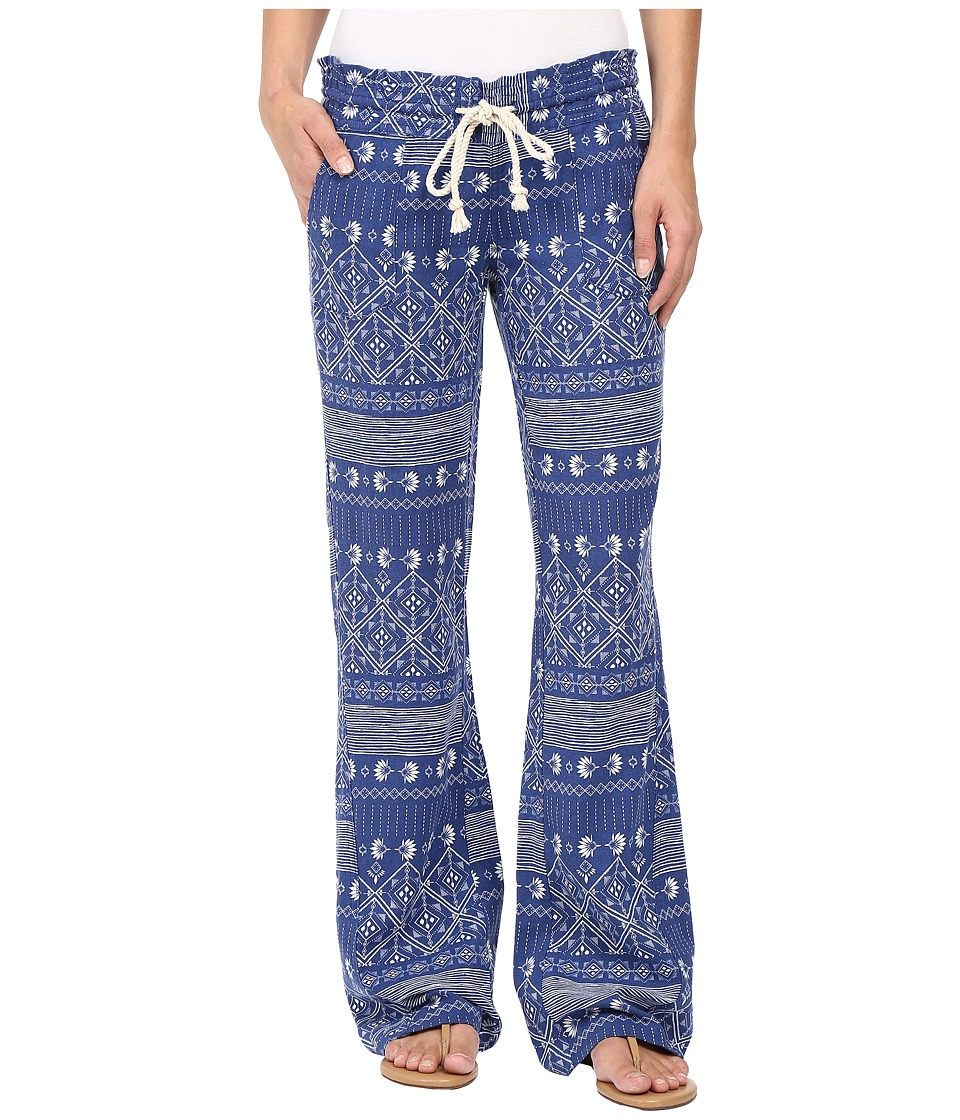 Roxy - Oceanside Printed Pants (Deep Ocean/Blue Print) Women's Casual Pants
