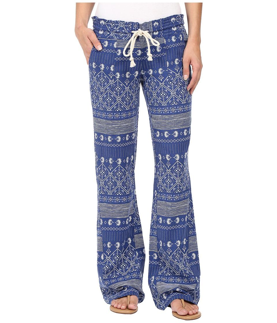 Roxy - Oceanside Printed Pants (Deep Ocean/Blue Print) Women