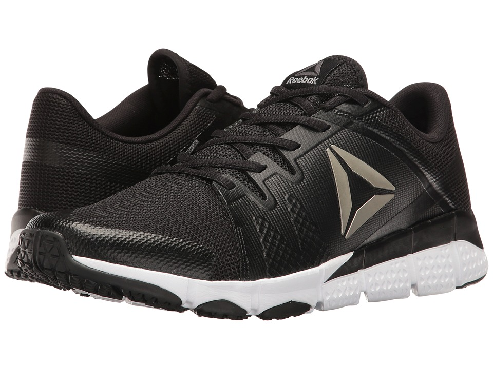 Reebok - Trainflex (Black/White/Pewter/Grey) Men's Cross Training Shoes