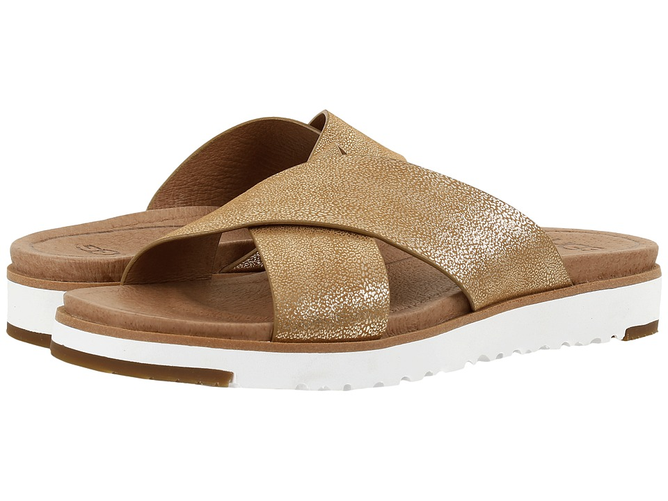 UGG - Kari Metallic (Gold) Women's Sandals