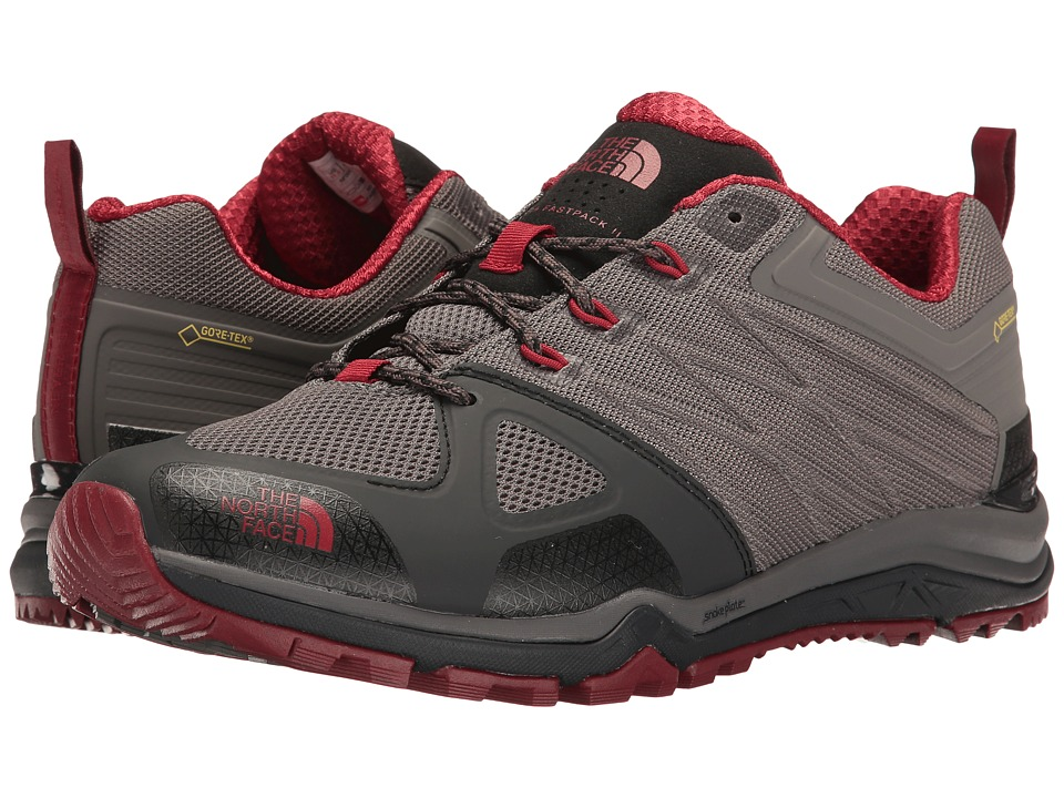 The North Face - Ultra Fastpack II GTX(r) (Dark Gull Grey/Rudy Red) Men's Shoes