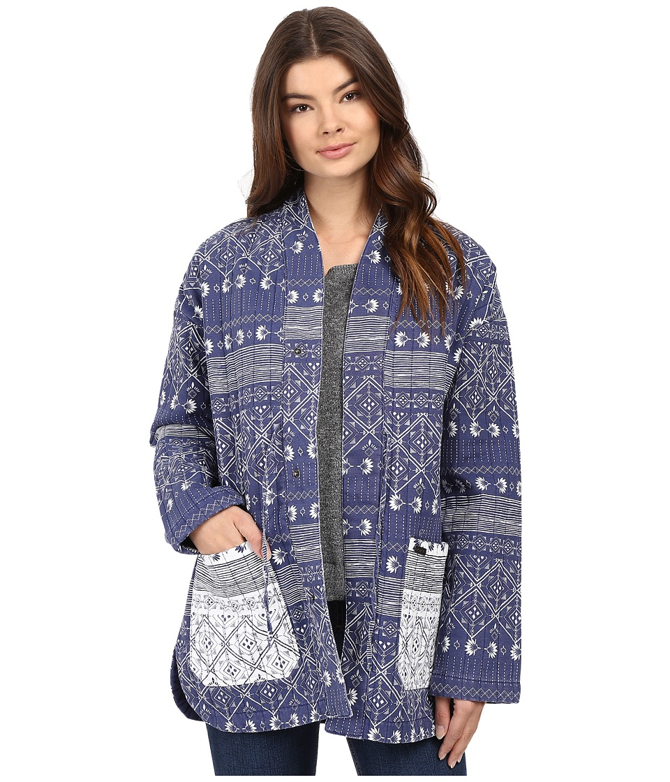 Roxy - Baleine Bay Jacket (Deep Ocean/Blue Print) Women's Coat
