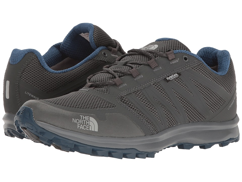 The North Face - Litewave Fastpack WP (Dark Shadow Grey/Shady Blue) Men's Shoes