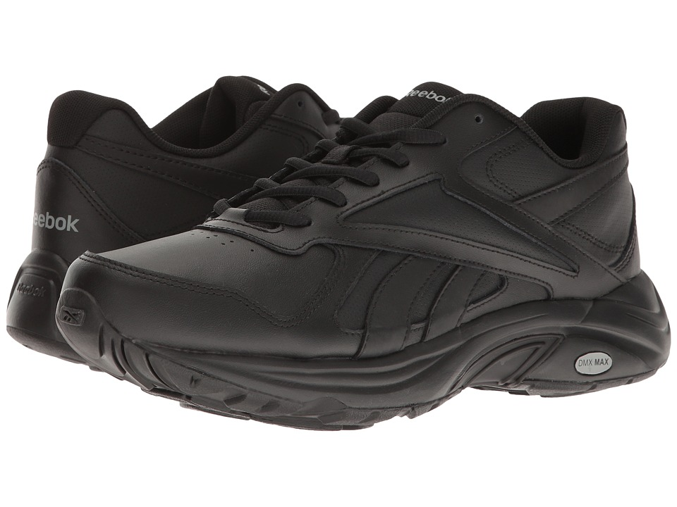 Reebok - Walk Ultra V DMX Max (Black/Black) Men's Walking Shoes