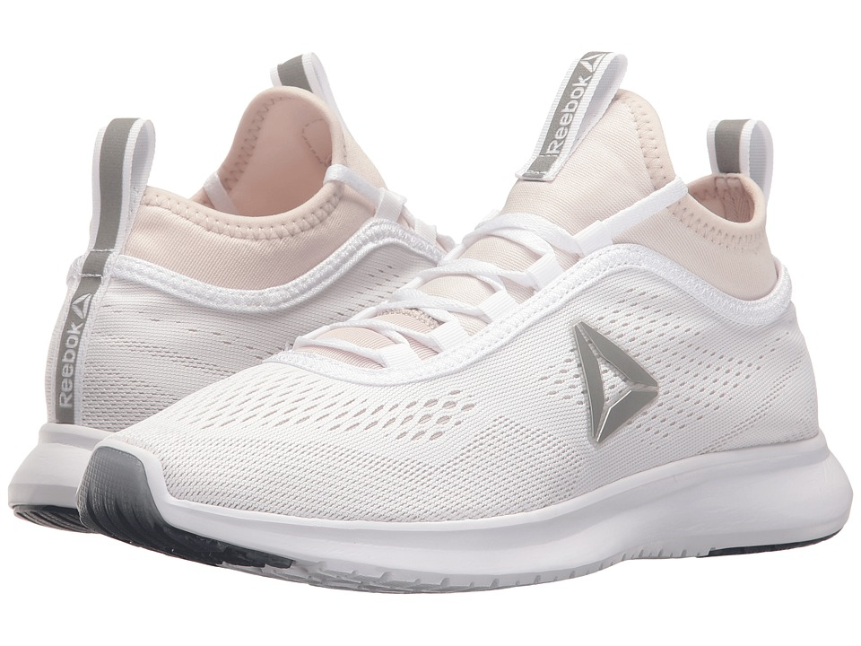 Reebok Plus Runner Tech (White/Lilac Ash/Silver Metallic) Women