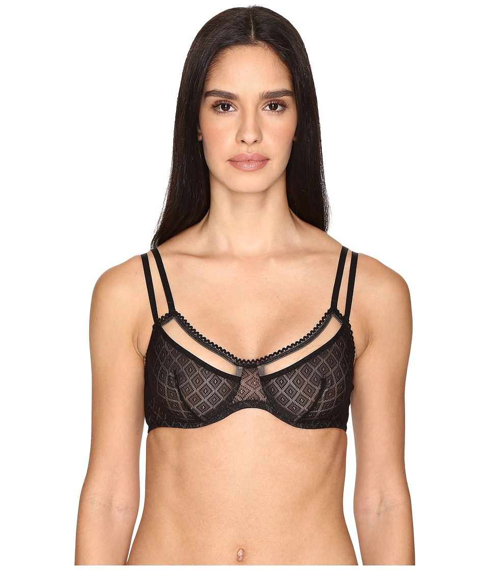 ELSE - Hidden Layer Underwire Full Cup Bra (Black) Women's Bra