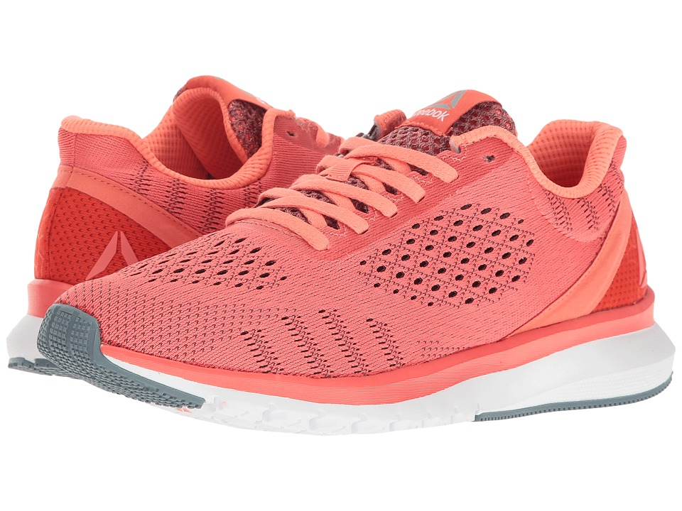 Reebok Print Run Smooth ULTK (Fire Coral/Stellar Pink/White/Stonewash/Pewter) Women