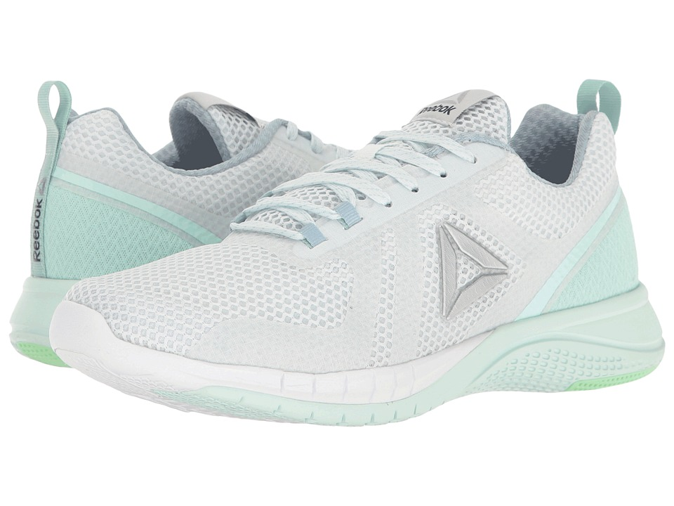 Reebok - Print Run 2.0 (Polar Blue/Gable Grey/Mist/Mint Green/White/Silver) Women's Running Shoes