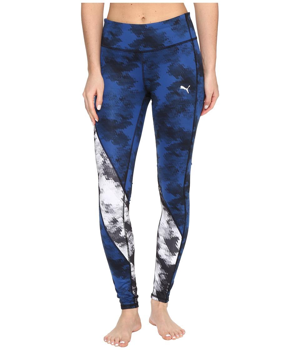 PUMA - Clash Tights (Puma Black/White/Blue) Women's Casual Pants