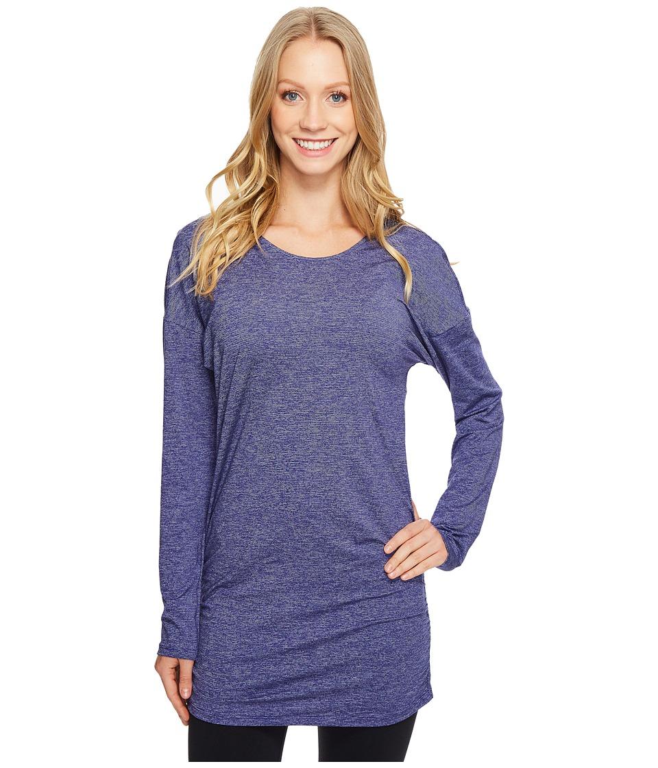 Lucy - Manifest Long Sleeve Tunic (Pure Indigo Micro Stripe) Women's Long Sleeve Pullover