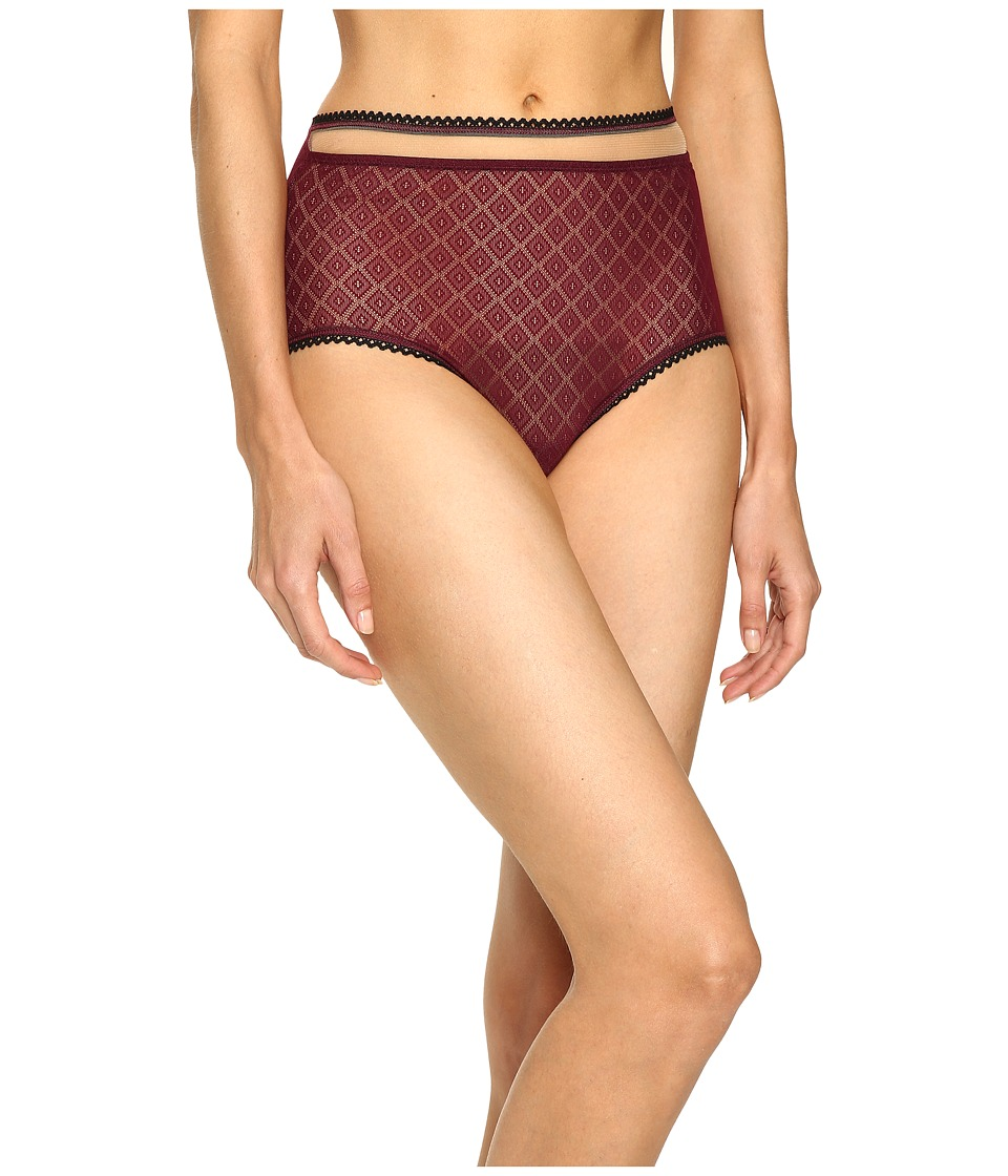 ELSE - Hidden Layer High Waist Brief (Berry) Women's Underwear