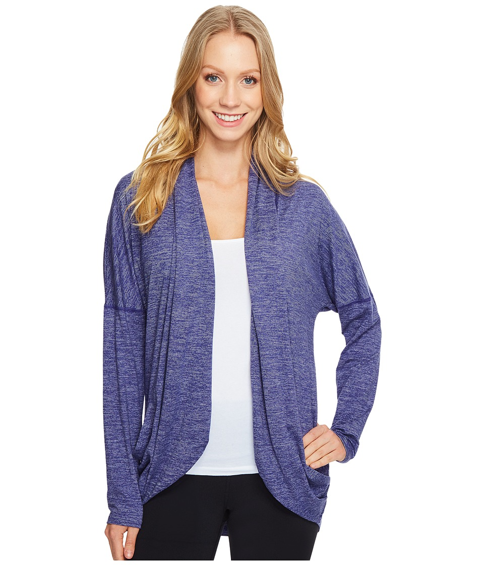Lucy - Enlightening Wrap Micro Stripe (Pure Indigo Micro Stripe) Women's Long Sleeve Pullover