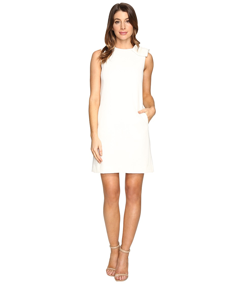 Tahari by ASL - Bow Detail Shift Dress (Vanilla) Women's Dress