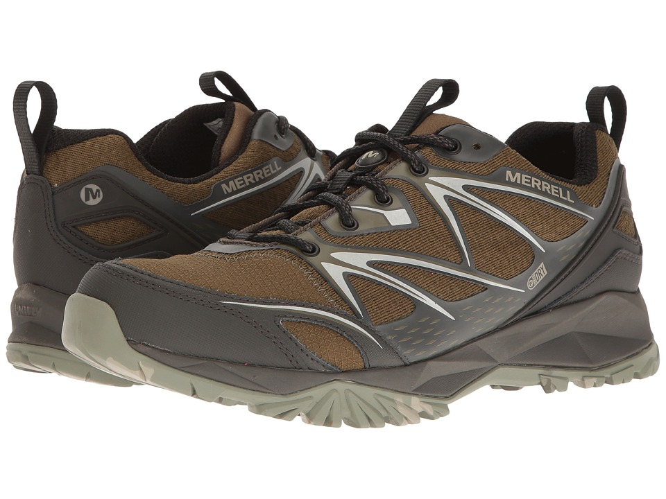 Merrell - Capra Bolt Waterproof (Dark Olive) Men's Shoes