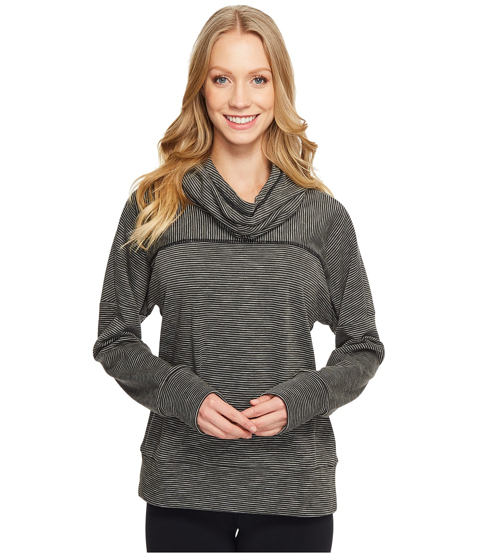 Lucy - Keep Going Cowl Pullover (Lucy Black Stripe) Women's Long Sleeve Pullover