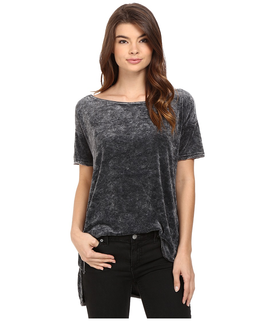 Free People - Doran Washed Tee (Black) Women's T Shirt