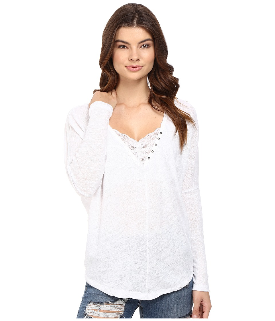 Free People - Santa Cruz Henley (White) Women's Clothing
