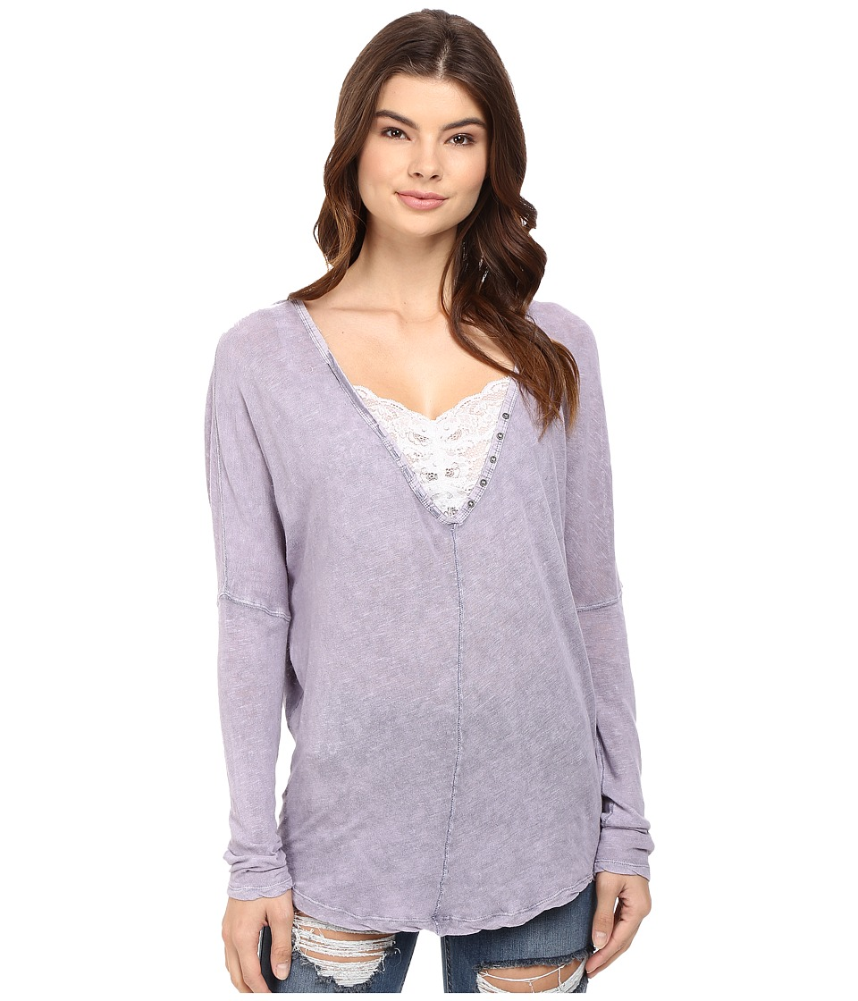 Free People - Santa Cruz Henley (Lilac) Women's Clothing