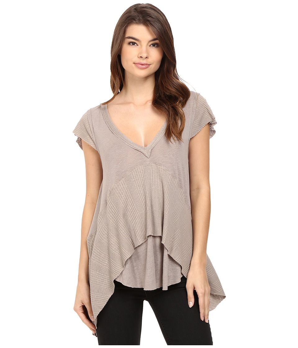 Free People - Mary Anne Tee (Brown) Women's Clothing