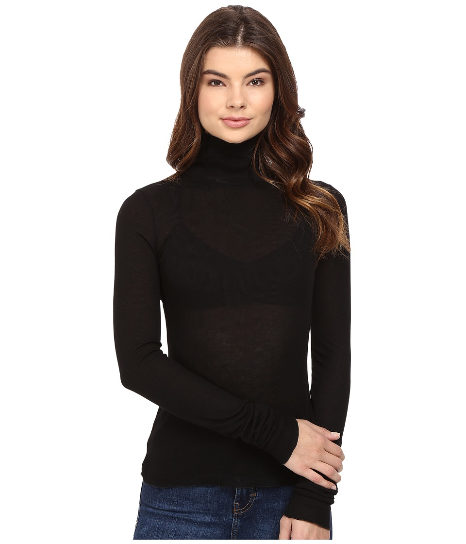 Free People - Modern Layering Turtleneck (Black) Women's Clothing