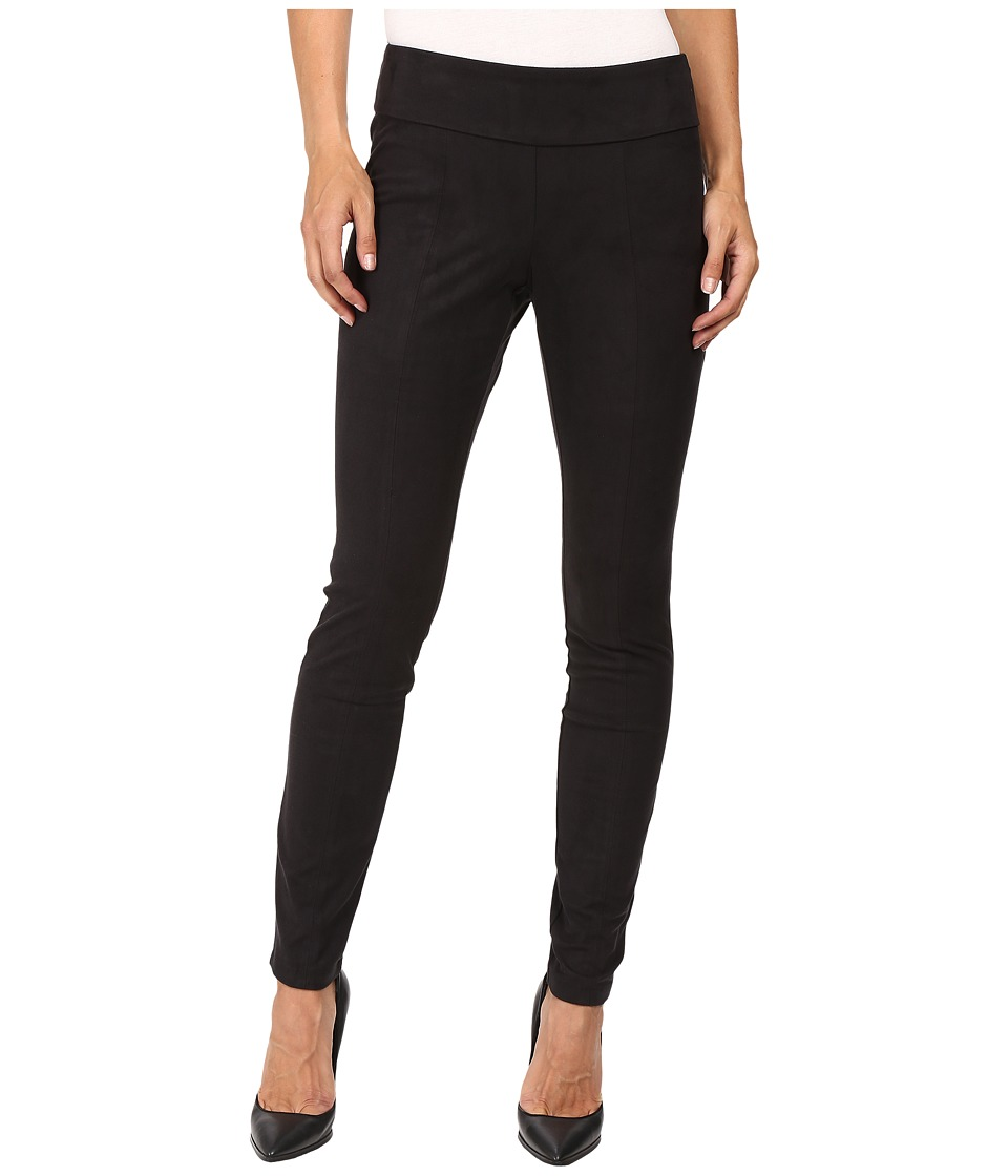 NIC+ZOE - Vegan Suede Leggings (Black Onyx) Women's Casual Pants