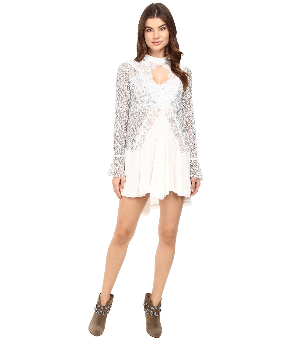 Free People - Tell Tale Lace Tunic (Ivory) Women's Blouse