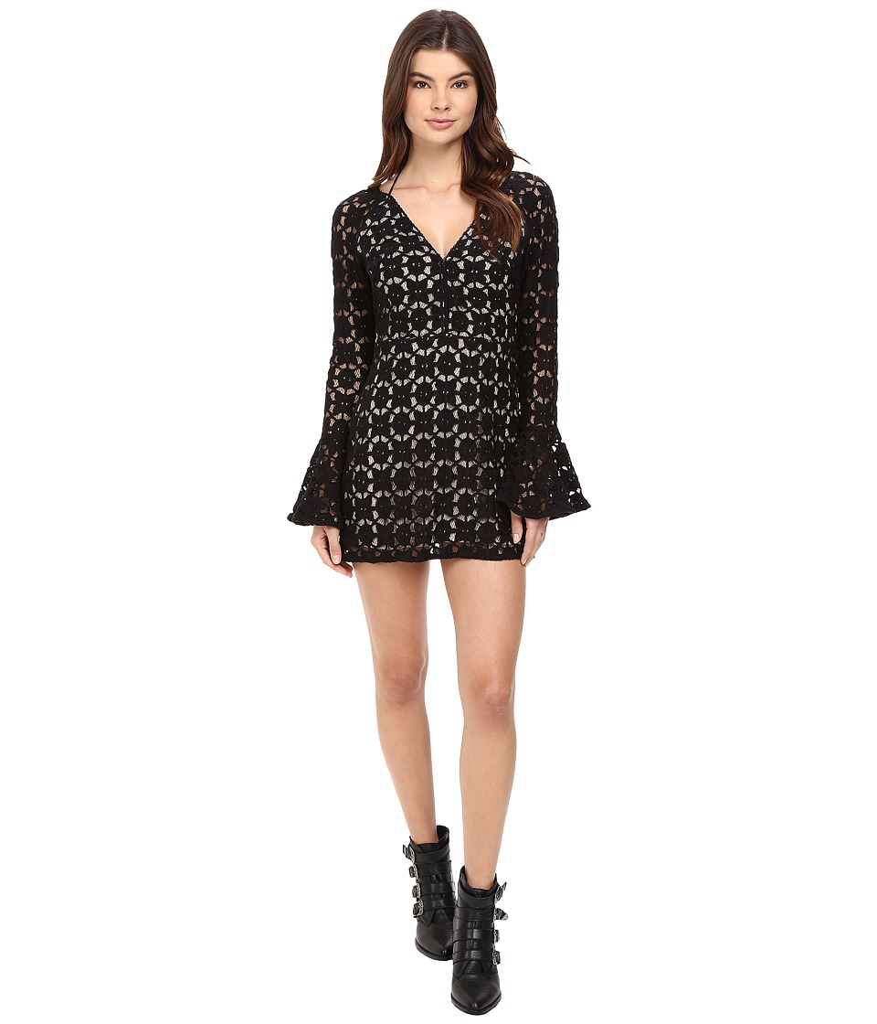 Free People - Back to Black Mini Dress (Black) Women's Dress
