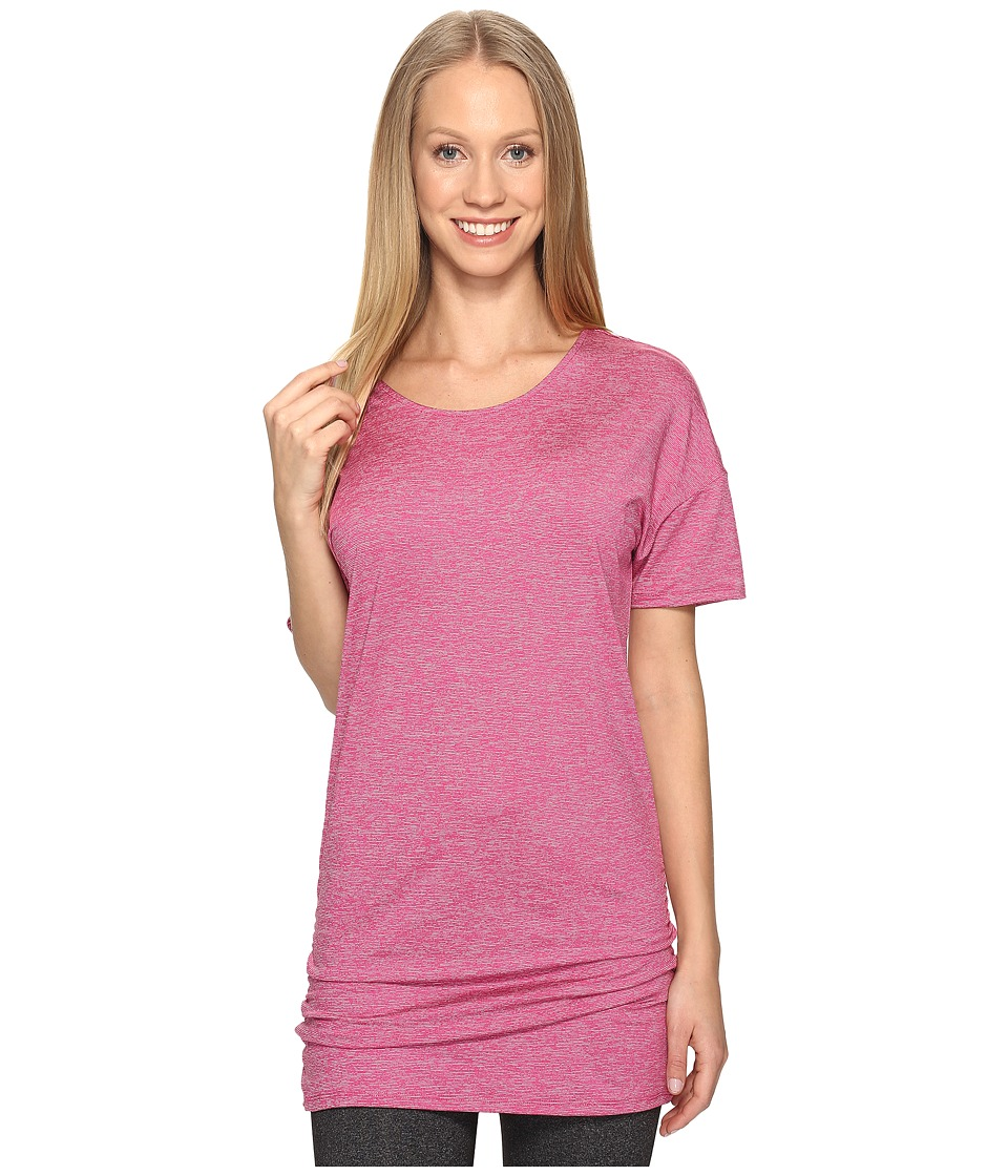 Lucy - Manifest Short Sleeve Tunic (Baroque Berry Micro Stripe) Women's Short Sleeve Pullover