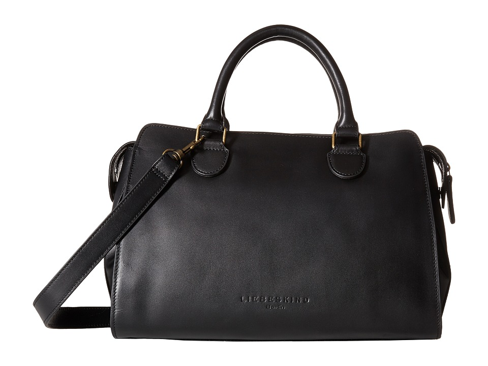Liebeskind - Lillie O Satchel (Black) Satchel Handbags