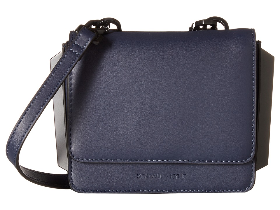KENDALL + KYLIE - Baxter Mini Crossbody (Navy) Cross Body Handbags