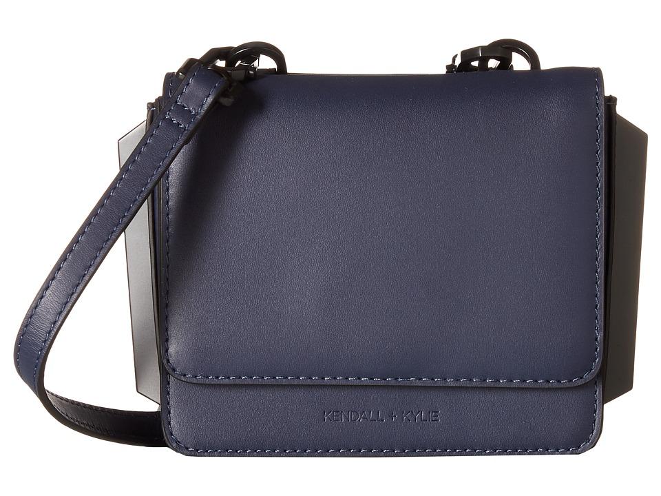 KENDALL + KYLIE - Baxter Mini Crossbody (Navy) Cross Body Handbags