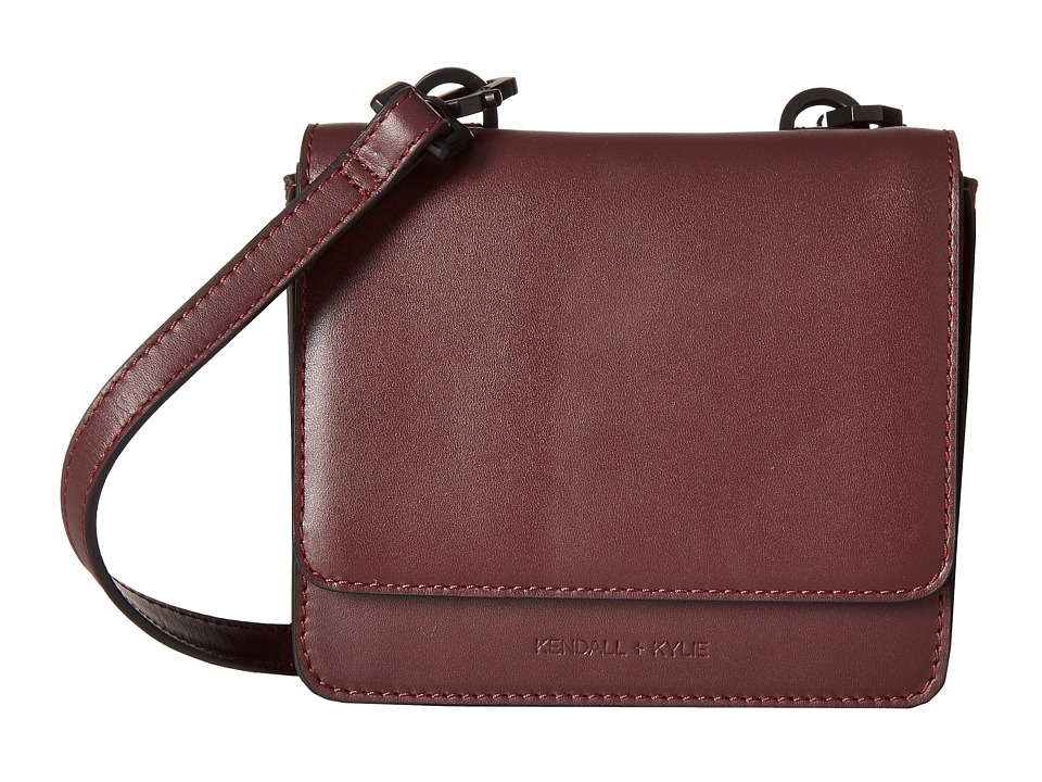 KENDALL + KYLIE - Baxter Mini Crossbody (Red Plum) Cross Body Handbags