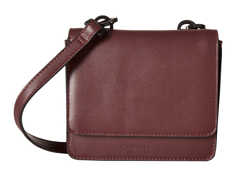 KENDALL + KYLIE - Baxter Mini Crossbody (Red Plum) Cross Body Handbags