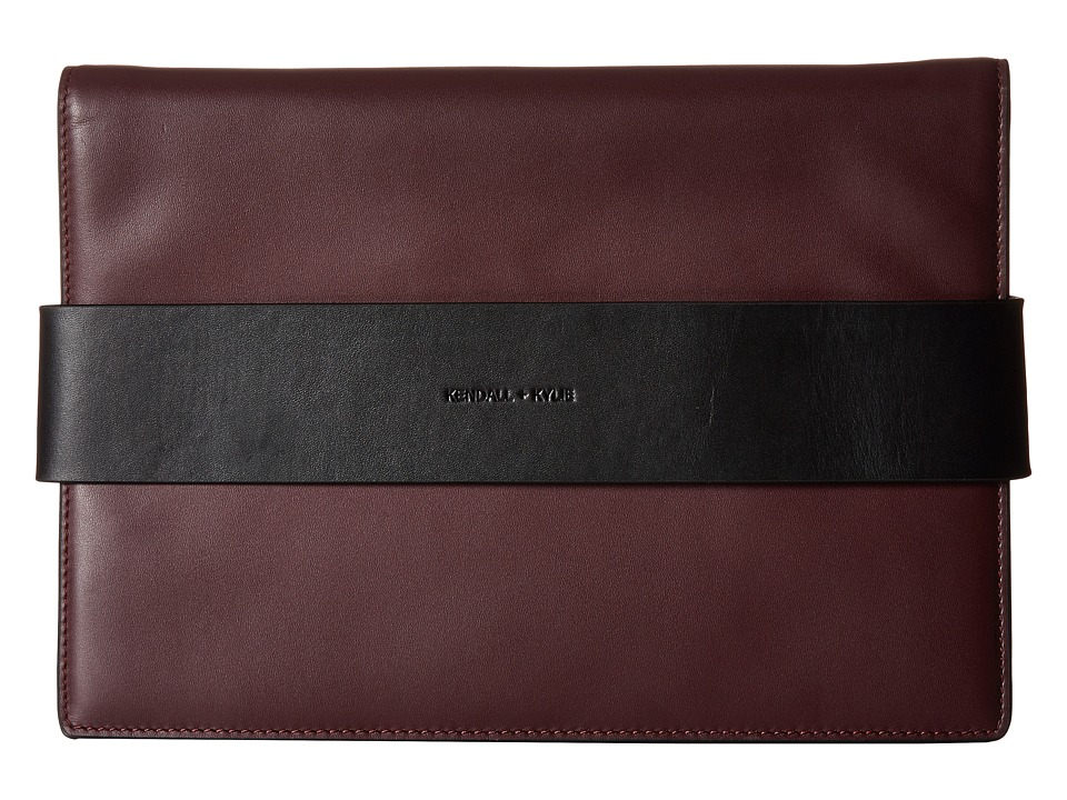 KENDALL + KYLIE - Azuba Clutch (Red Plum) Clutch Handbags
